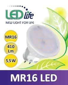 LED lemputė LEDlife MR16 5,5W (šiltai balta) kaina ir informacija | Elektros lemputės | pigu.lt