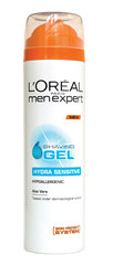 Skutimosi želė jautriai odai L'Oreal Paris Men Expert Hydra Sensitive 200 ml