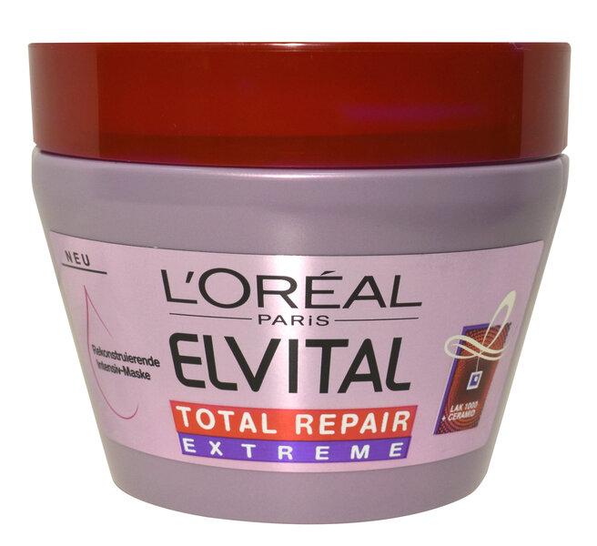Kaukė itin pažeistiems plaukams L'Oreal Paris Elvital Total Repair Extreme 300 ml kaina ir informacija | Priemonės plaukų stiprinimui | pigu.lt