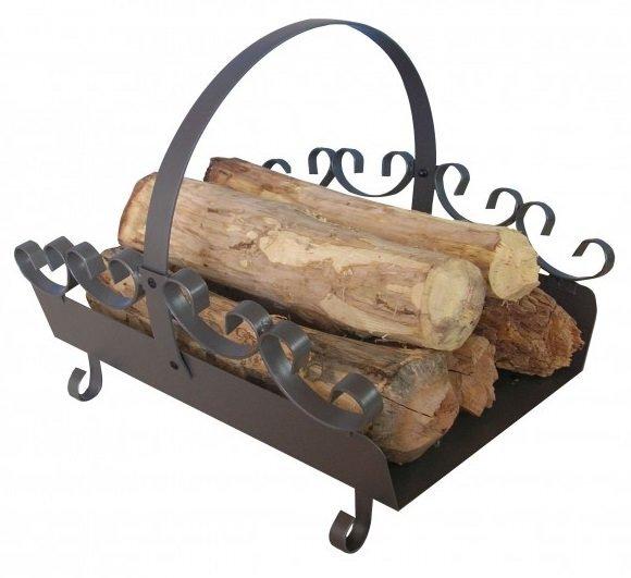 Dėklas malkoms, plieninis kaina ir informacija | Priedai šildymo įrangai | pigu.lt