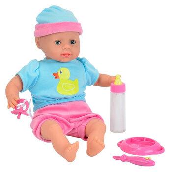 Lėlė kūdikis Laura su priedais, 38 cm kaina ir informacija | Žaislai mergaitėms | pigu.lt