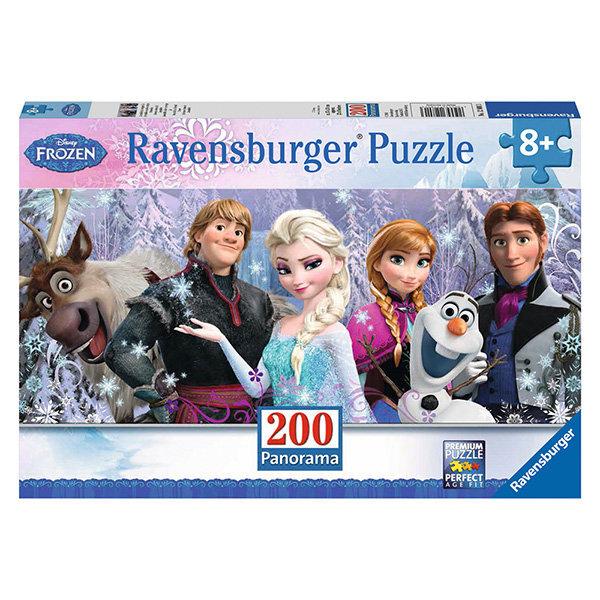 Dėlionė Ravensburger Ledo šalis (Frozen) Arendelle 200 detalių, 128013 kaina ir informacija | Dėlionės (puzzle) | pigu.lt