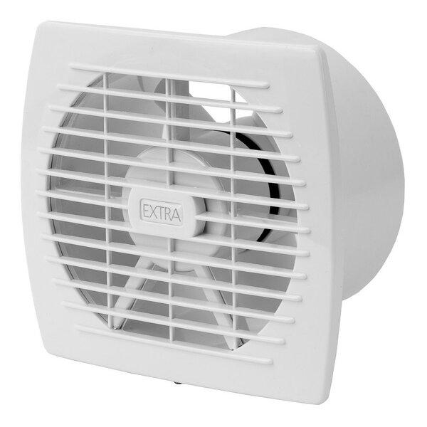 Ištraukimo ventiliatorius Europlast EXTRA d100mm su laikmačiu ir drėgmės jutikliu kaina ir informacija | Vonios ventiliatoriai | pigu.lt