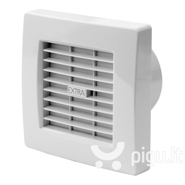 Ištraukimo ventiliatorius Europlast EXTRA d120mm su žaliuzėmis ir laikmačiu kaina ir informacija   Vonios ventiliatoriai   pigu.lt