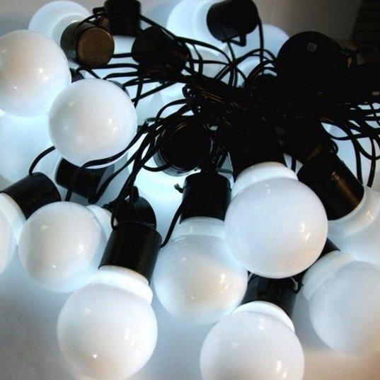 Lauko girlianda 20 LED, balta spalva kaina ir informacija | Lauko šviestuvai | pigu.lt
