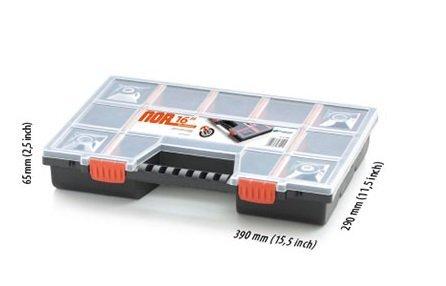 Smulkmenų dėžė Prosperplast NOR16 kaina ir informacija | Įrankių dėžės, laikikliai | pigu.lt