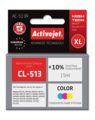 Rašalinio spausdintuvo kasetė ActiveJet AC-513R skirta Canon spausdintuvam, Spalvota kaina ir informacija | Kasetės rašaliniams spausdintuvams | pigu.lt