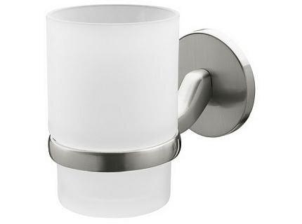 Stiklinėlė su laikikliu Bisk Virginia kaina ir informacija | Vonios kambario aksesuarai | pigu.lt