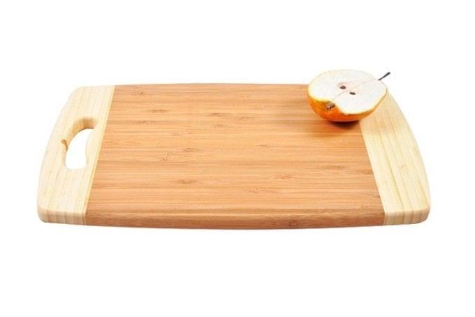 Bambukinė pjaustymo lentelė, 42x23 cm kaina ir informacija | Virtuvės, stalo įrankiai | pigu.lt