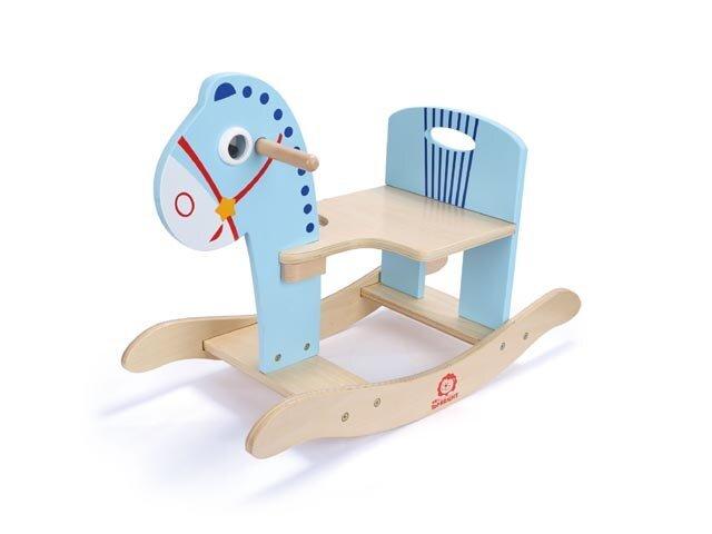 Medinis supamas arkliukas Brimarex, mėlynas kaina ir informacija | Lavinamieji žaislai | pigu.lt