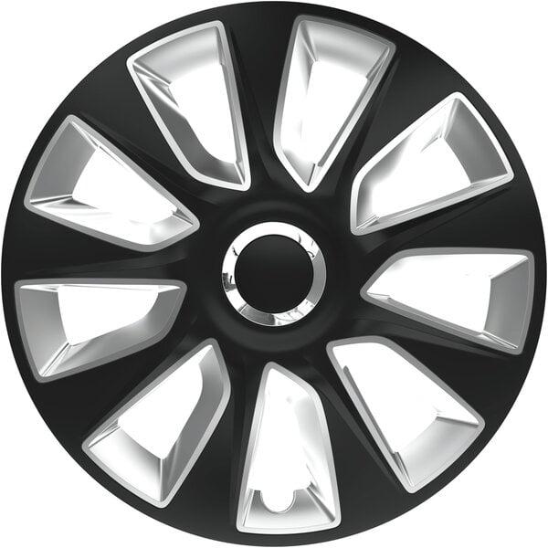 Ratų gaubtai Stratos RC Black&Silver kaina ir informacija | Ratų gaubtai | pigu.lt
