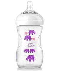 "Buteliukas Philips Avent ""Natural"" 1+ mėn, 260 ml PP, violetinis (SCF627/17)"