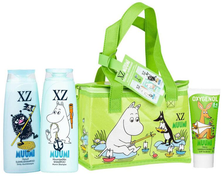 Vaikiškas rinkinys Muumi: šampūnas 250 ml + dušo želė 2in1 250 ml + dantų pasta-gelis (2-6 m) 50 ml + šaltkrepšis kaina ir informacija | Kosmetika vaikams ir mamoms | pigu.lt