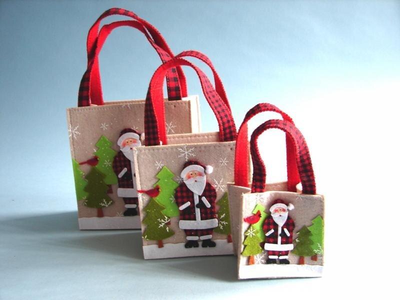 Kalėdinis dovanų maišelis 20x35 cm kaina ir informacija | Dovanų pakavimo priemonės | pigu.lt