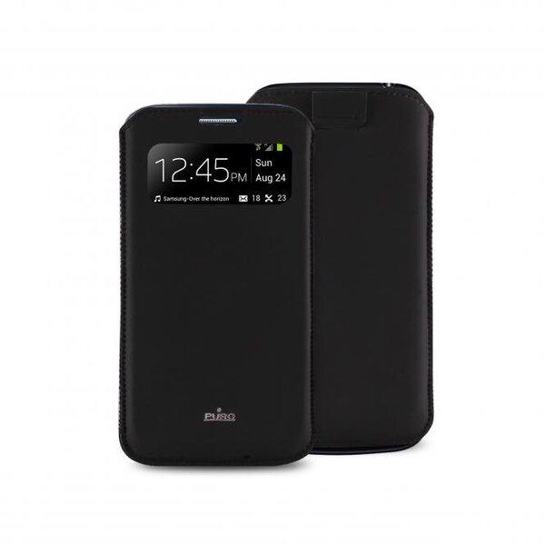 Apsauginis dėklas Puro skirtas Galaxy S4 mini (i9190), (PCCS4MINIVIEWBLK) kaina ir informacija | Telefono dėklai | pigu.lt