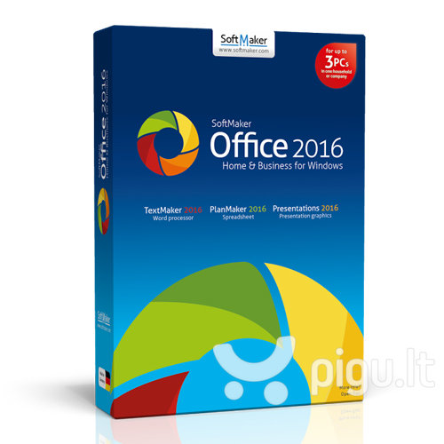 SoftMaker Office 2016 Home & Business for Windows BOX LT kaina ir informacija | Biuro programos | pigu.lt