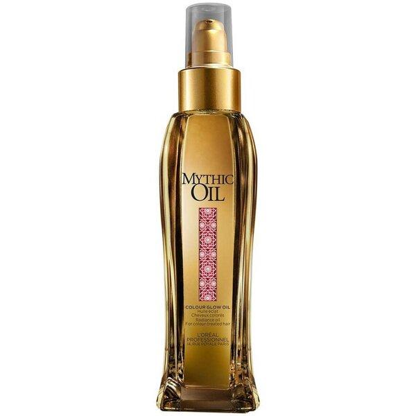 Plaukų aliejus dažytiems plaukams L'Oreal Professionnel Mythic Oil Colour Glow Oil 100 ml kaina ir informacija | Priemonės plaukų stiprinimui | pigu.lt