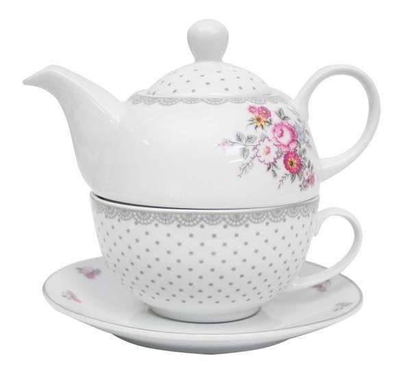 Rinkinys arbatai Federica, 3 dalių kaina ir informacija | Taurės, puodeliai, ąsočiai | pigu.lt