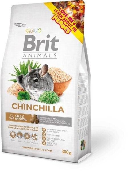 Brit Animals Chinchilla 300 g kaina ir informacija | Maistas graužikams | pigu.lt