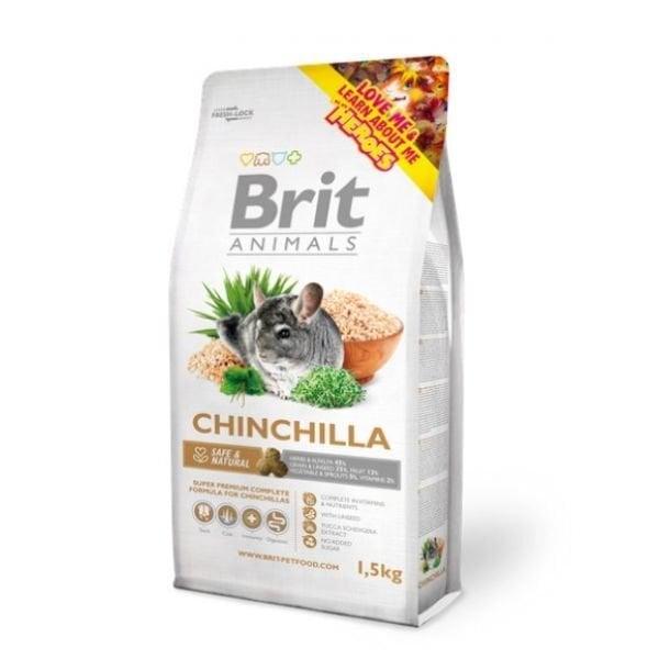 Brit Animals Chinchilla 1,5 kg kaina ir informacija | Maistas graužikams | pigu.lt