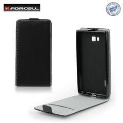 Atvečiamas dėklas Forcell Flexi Slim Flip skirtas Sony Xperia E (C1605), Juodas kaina ir informacija | Telefono dėklai | pigu.lt