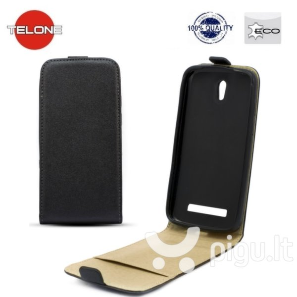 Telone Shine Pocket Slim Flip Case Huawei Ascend G8 vertical book case Black