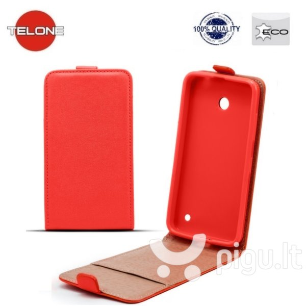 Telone Shine Pocket Slim Flip Case Sony Xperia Z5 Premium vertical book case Red