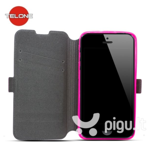 Telone Super Slim Shine Book Case with stand HTC Desire 520 Pink