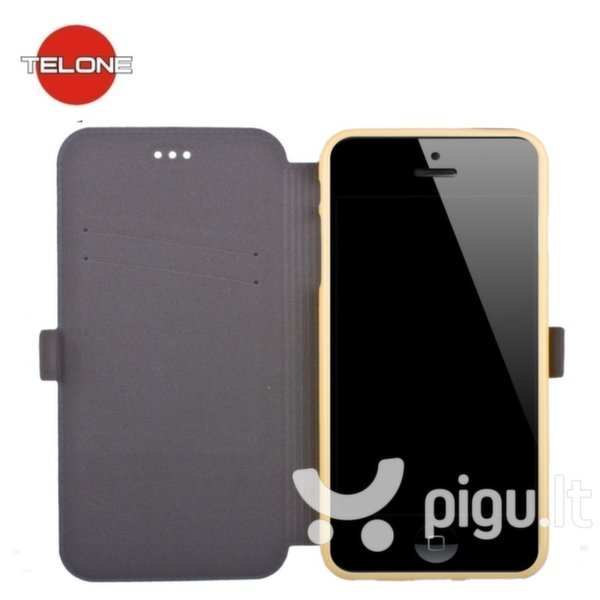 Telone Super Slim Shine Book Case with stand HTC Desire 820 Gold