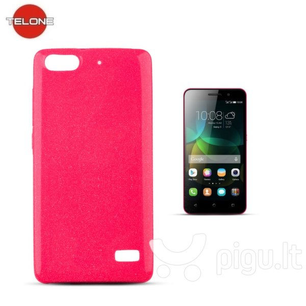 Telone Candy Ultra Slim 0.3mm Shine Jelly Back Case Huawei Honor 4C Pink