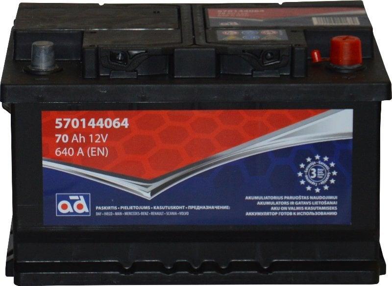 Akumuliatorius AD 70Ah 640A kaina ir informacija | Akumuliatoriai | pigu.lt