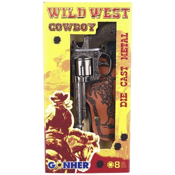 Žaislinis kaubojaus pistoletas su dėklu Gonher, WILD-WEST, 201/0 kaina ir informacija | Žaislai berniukams | pigu.lt