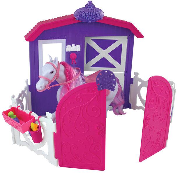 Žirgo ir arklidžių rinkinys Sparkle Girlz, 75064 kaina ir informacija | Žaislai mergaitėms | pigu.lt