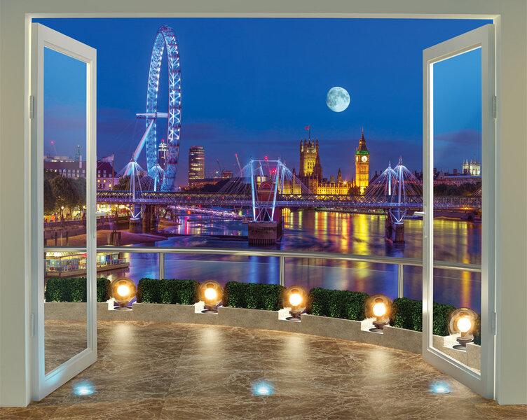 Tapetai London Skyline kaina ir informacija | Vaikiški fototapetai | pigu.lt