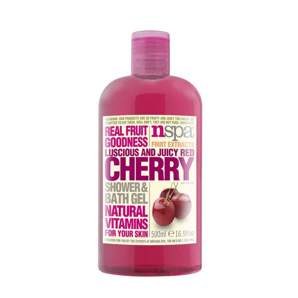 Vyšnių aromato dušo želė NSPA 500 ml kaina ir informacija | Dušo želė, muilas | pigu.lt