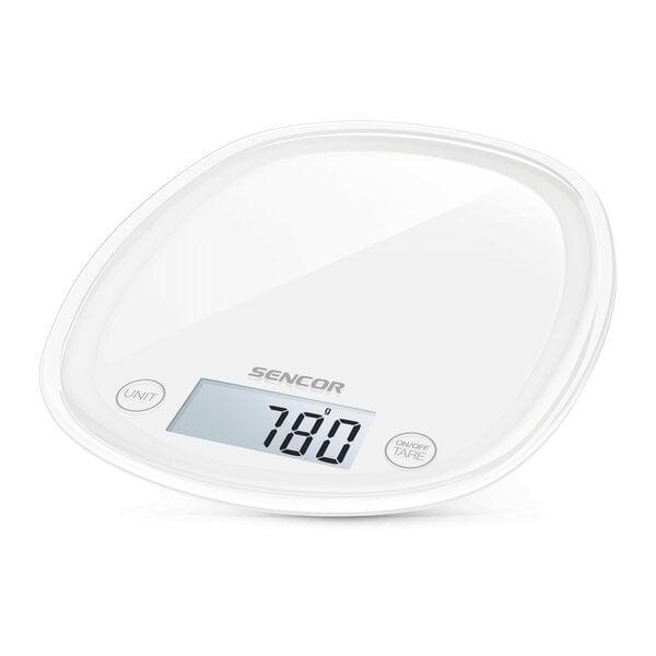 Sencor SKS 30WH Pastels kaina ir informacija | Svarstyklės (virtuvinės) | pigu.lt