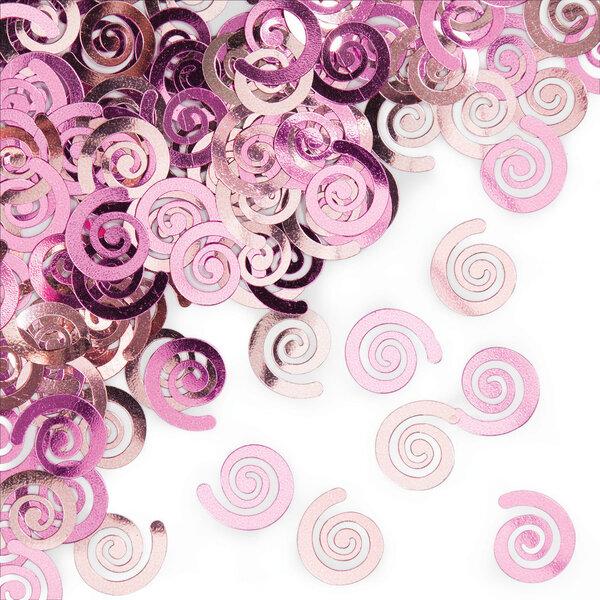 Konfeti Švelniai rožiniai suktukai kaina ir informacija | Dekoracijos, indai šventėms | pigu.lt
