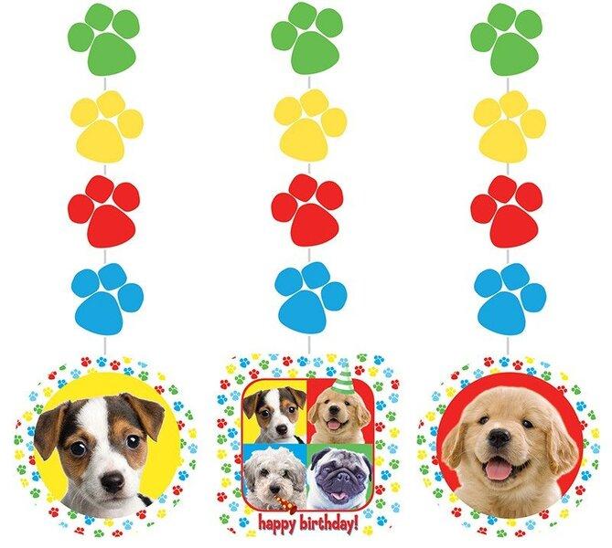 Kabančios dekoracijos Šuniukai 3 vnt. kaina ir informacija | Dekoracijos, indai šventėms | pigu.lt