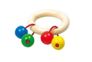 Medinis barškutis Bino Pio kaina ir informacija | Žaislai kūdikiams | pigu.lt