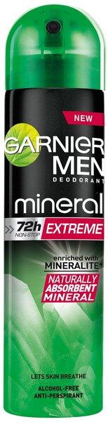 Purškiamas dezodorantas Garnier Men Mineral Extreme 150 ml kaina ir informacija | Dezodorantai | pigu.lt