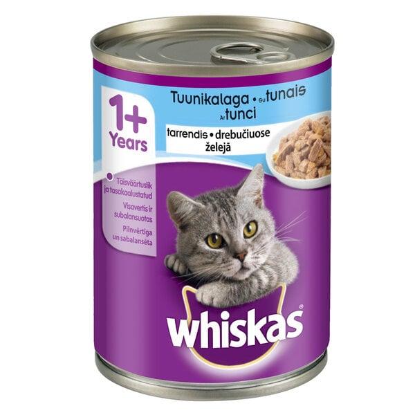 WHISKAS konservuotas ėdalas katėms su tunu, 400 g kaina ir informacija | Konservai katėms | pigu.lt
