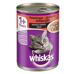 WHISKAS konservuotas ėdalas katėms su jautiena, 400 g