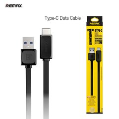 Remax Flat & Soft USB-Type-C 1m, Juodas
