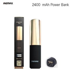 Power Bank Remax LipMax 2400mAh - Lūpdažis, Auksinis
