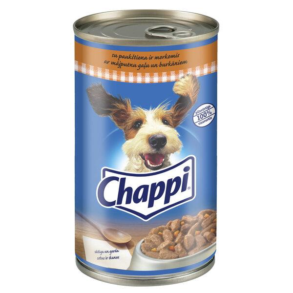 CHAPPI konservuotas ėdalas šunims su paukštiena ir daržovėmis 1,2kg kaina ir informacija | Konservai šunims | pigu.lt