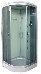 Masažinė dušo kabina K890 90x90, pilka kaina ir informacija | Hidromasažinės dušo kabinos | pigu.lt