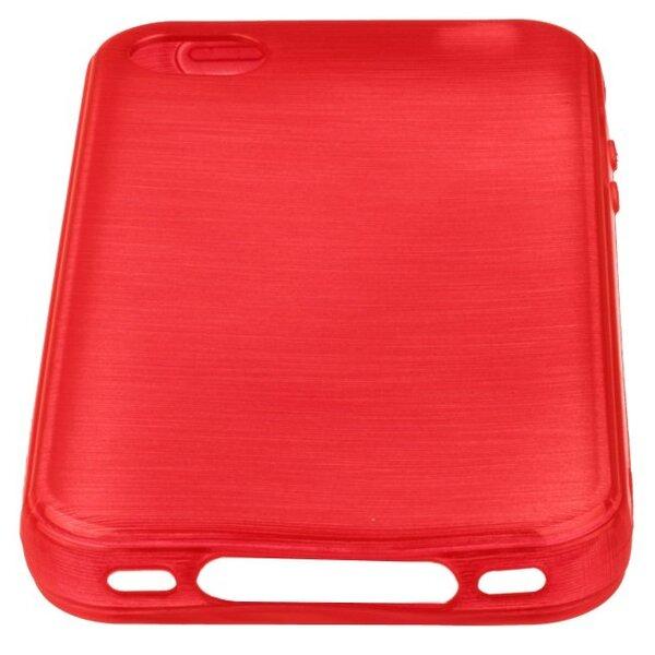 Apsauginis dėklas Forcell Jelly Brush Pearl skirtas Apple iPhone 4/4S, Raudonas kaina ir informacija | Telefono dėklai | pigu.lt