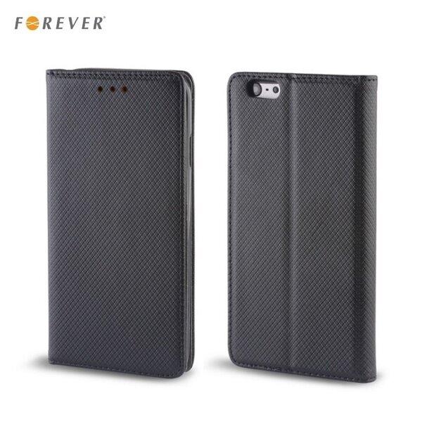 Apsauginis dėklas Forever Smart Magnetic Fix Book skirtas Samsung Galaxy S3/S3 Neo (i9300/i9301), Juodas kaina ir informacija | Telefono dėklai | pigu.lt