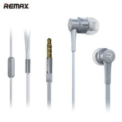 Remax RM-535 Flat Cable Music Stereo 3.5mm In-Ear Headset with mic/remote White