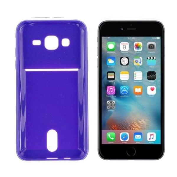 Apsauginis dėklas Roar Card Pocket Jelly skirtas Apple iPhone 6/6S, Violetinis kaina ir informacija | Telefono dėklai | pigu.lt